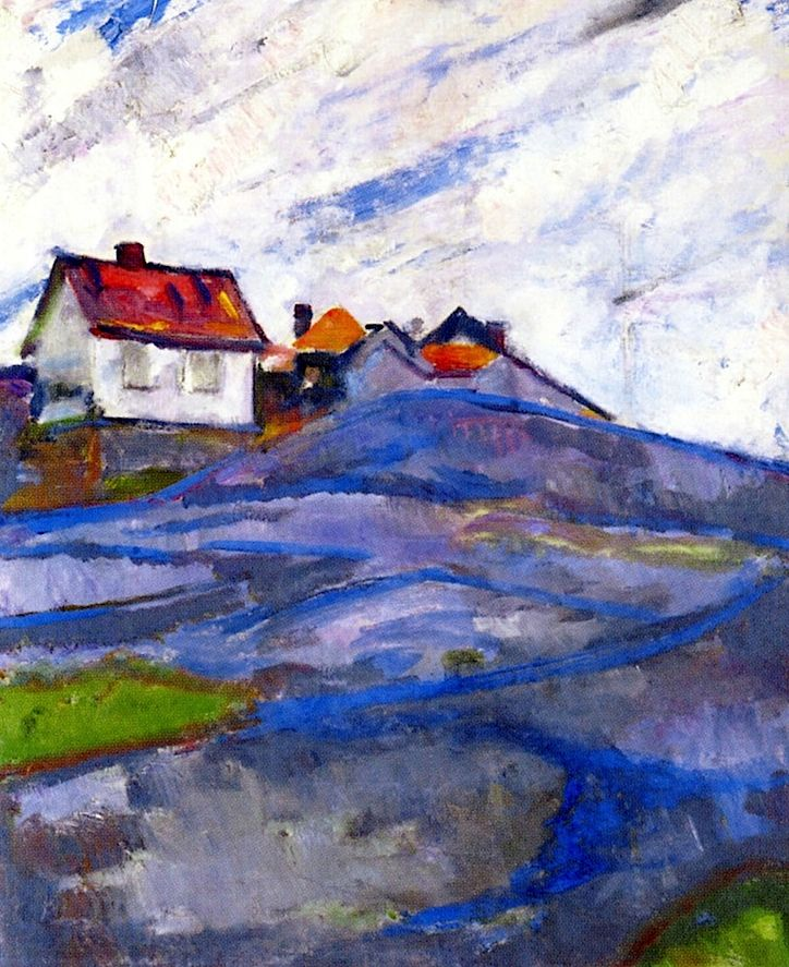 The House in the Skerries Edvard Munch - 1910-1915