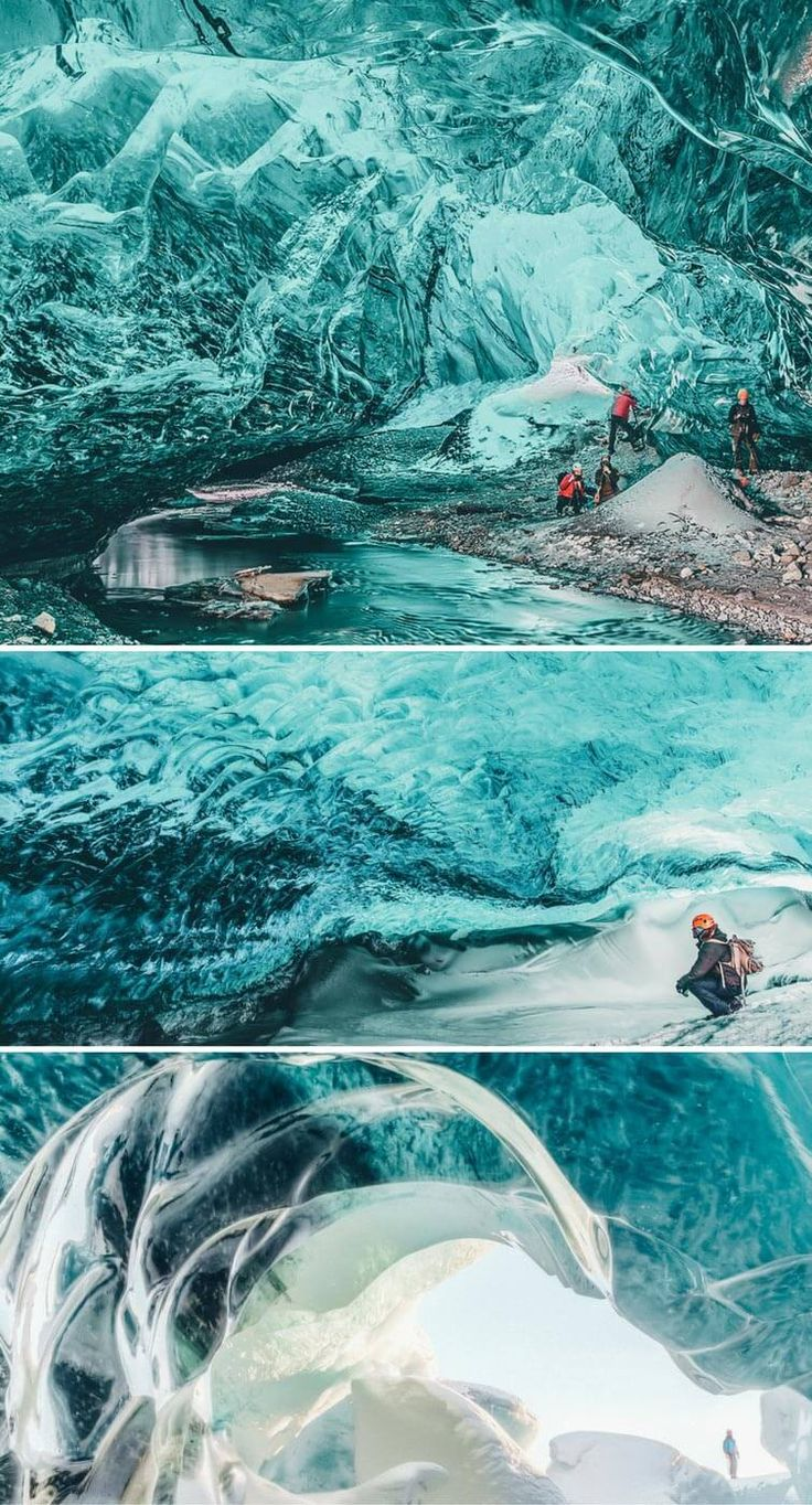 Ice Cave Tour in Iceland! Check out the top places to see in Iceland on avenlylanetravel.com #Iceland #avenlylanetravel #europe
