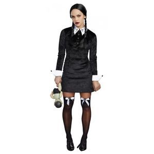 Wednesday Addams Costume Adult Halloween Fancy Dress  | eBay