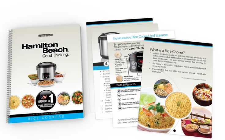 Sales Training Booklet (Rice Cooker) Design for HAMILTON BEACH BRANDS (USA)