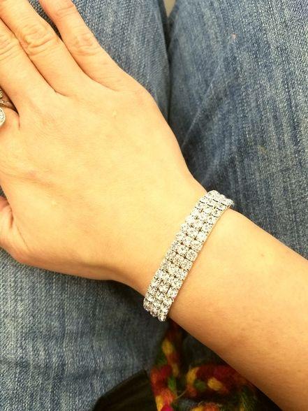 Fashion Jewelry, Trendy Jewelry, Inexpensive Jewelry, Stretch Bracelet, Bridal Jewelry, Wedding Jewelry, Silver Bracelet