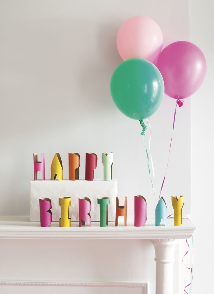 In our house we have a tradition of leaving birthday messages for each  other as a birthday morning surprise. They're usually in the form of  garlands or banners, strung across doorways or along the edge of the  mantel. These tube letters, from our book, Paper Goods Projects, are a fun  way to d