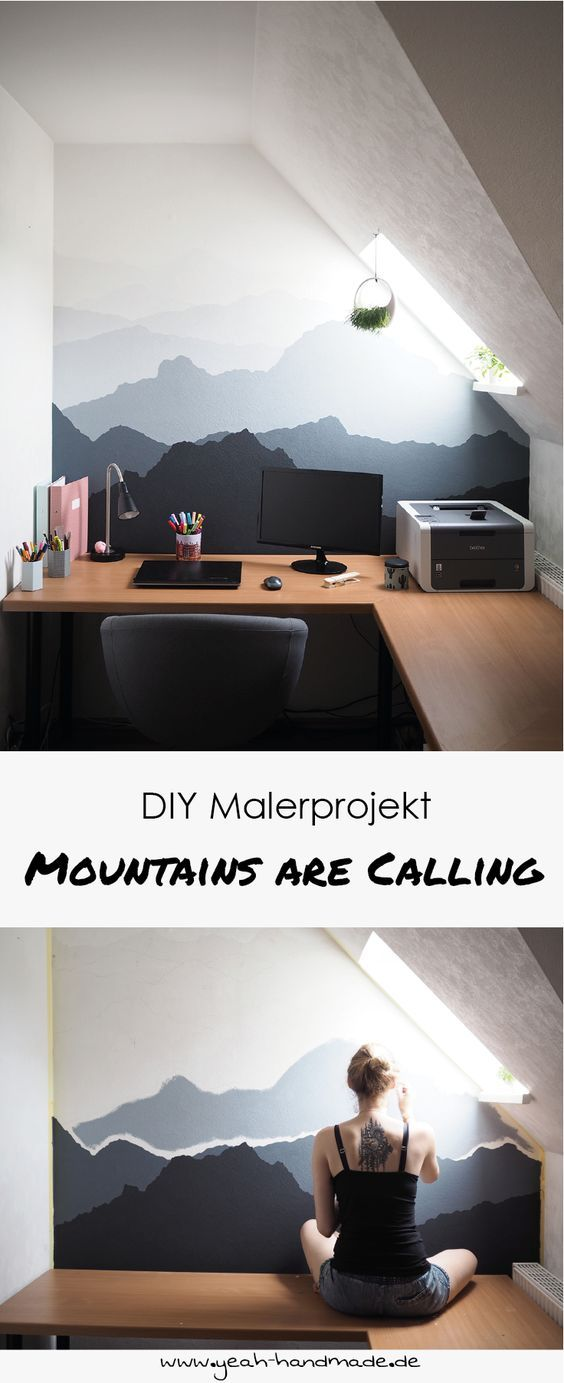 DIY Malerprojekt: Mountains are calling