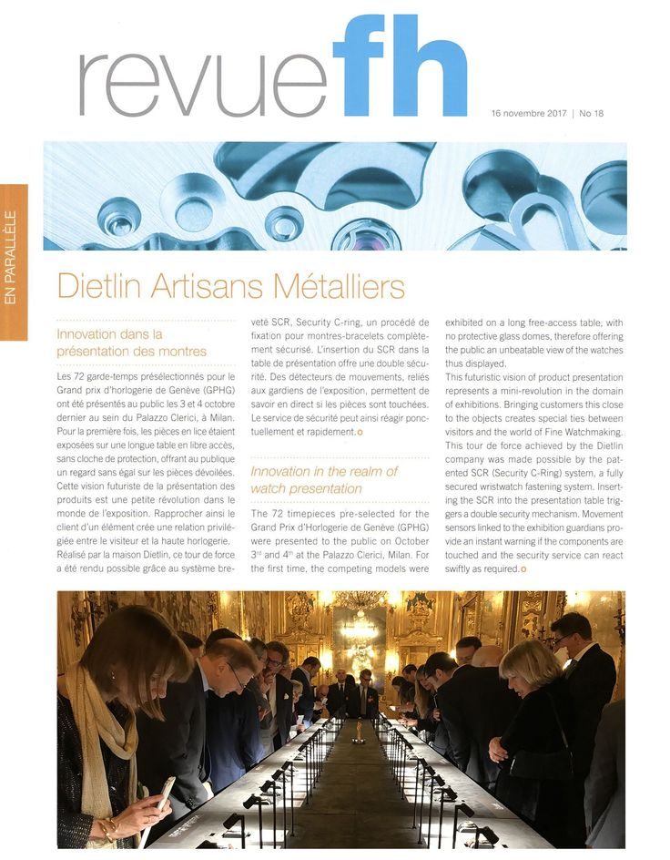 Revue FH: Security C-Ring, innovation in the realm of watch presentation.
