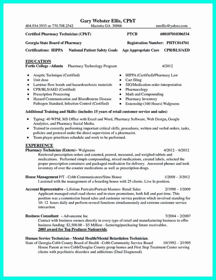 Pharmacy Technician Resume Objective New What Objectives To