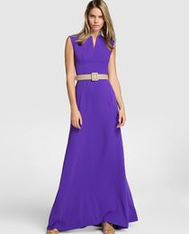 Vestido largo de mujer Elogy Colección Juanjo Oliva en color violeta