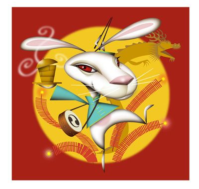 Rabbit. Illustration by Amy Ning, represented by Liz Sanders Agency. lizsanders.com