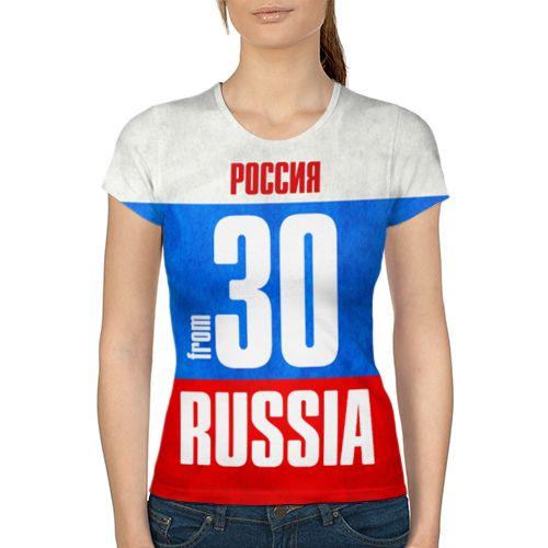 38    Russia (from 30) Женская 3D футболка с рисунком надписью принтом купить Женские футболки с полной запечаткой наложенным платежом