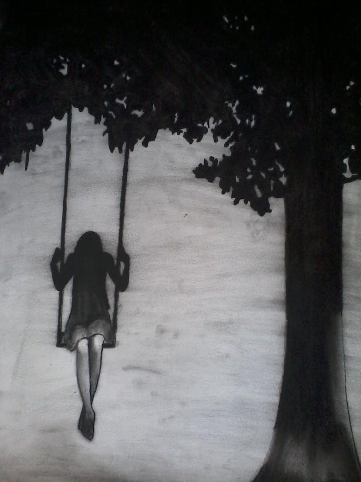 Girl on Swing - Sketching by Shanna Williams in Sketches at touchtalent