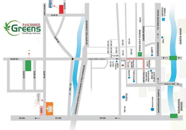 Panchsheel Greens Noida Location
