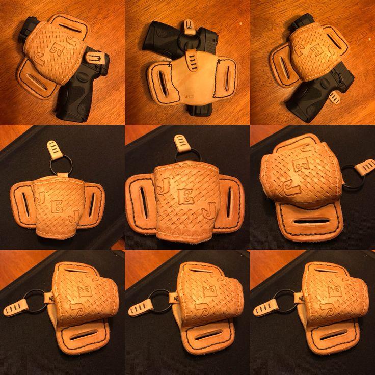 Handmade, customized 9mm holster.