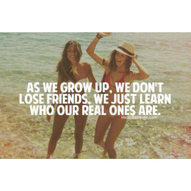 So true. One thing I learned from going through a divorce is that you very quickly learn who your genuine friends are; that is SUCH valuable information.   Though it still hurts at times, it causes me to pay much closer attention to those who proved themselves true. :)  Thankful, so thankful for those people.