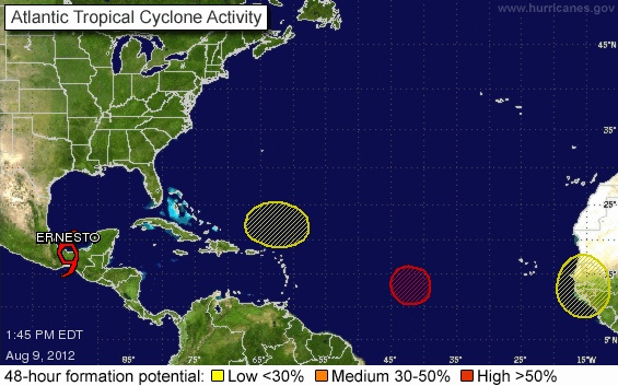 3 areas to watch in addition to Ernesto.