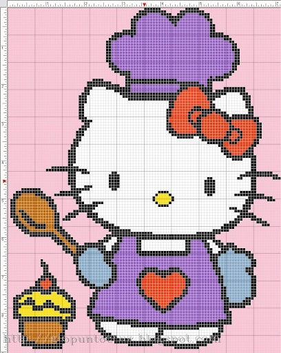 Hello kitty pattern.