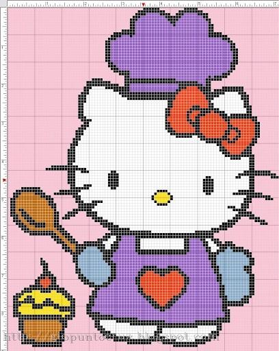 Hello kitty pattern.