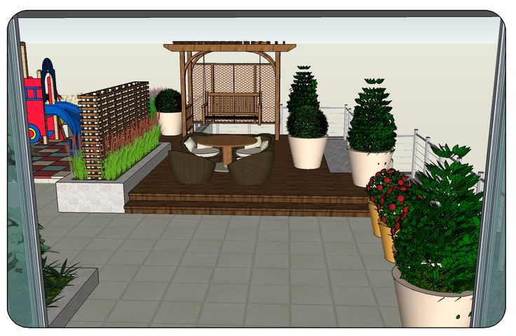 Roof Terrace Garden Landscape Design