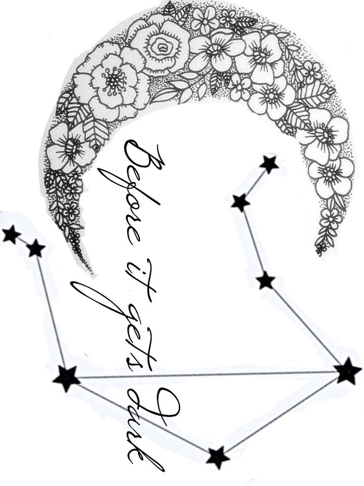 Libra tattoo, libra constellation, star sign, moon, quote tattoo