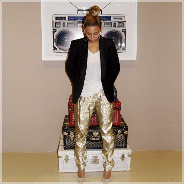 Beyonce + her Goyard luggage