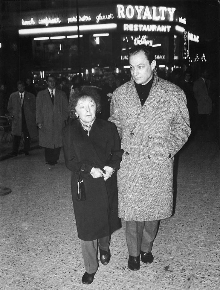 EDITH PIAF ,CHARLES DUMONT , ROYALTY  PHOTOGRAPHIE ARGENTIQUE