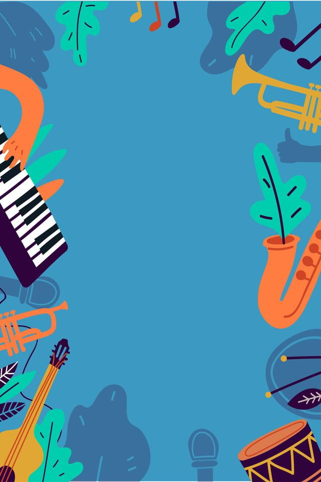 Flat Vector Music Background Music Backgrounds Blues Music Poster Music Border