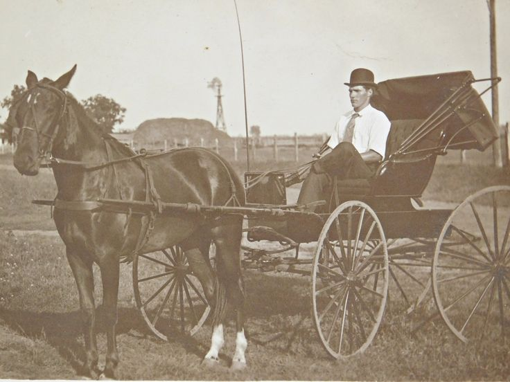 Man in Horse Drawn Carriage Antique Photo Postcard, RPPC, Circa 1900-1910, Gelatin Silver Print Photo, Printed on AZO Kodak Postcard by LavishMaidenVintage on Etsy