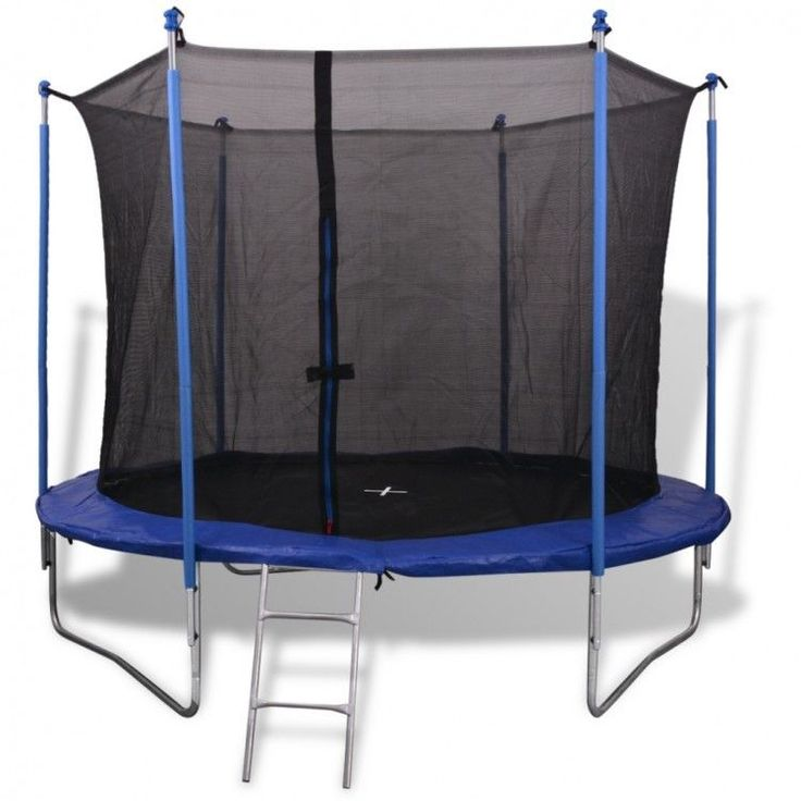 10Ft Outdoor Play Trampoline Safety Net Rain Cover Legs Ladder Jumping Toy Game #10FtOutdoorPlayTrampoline