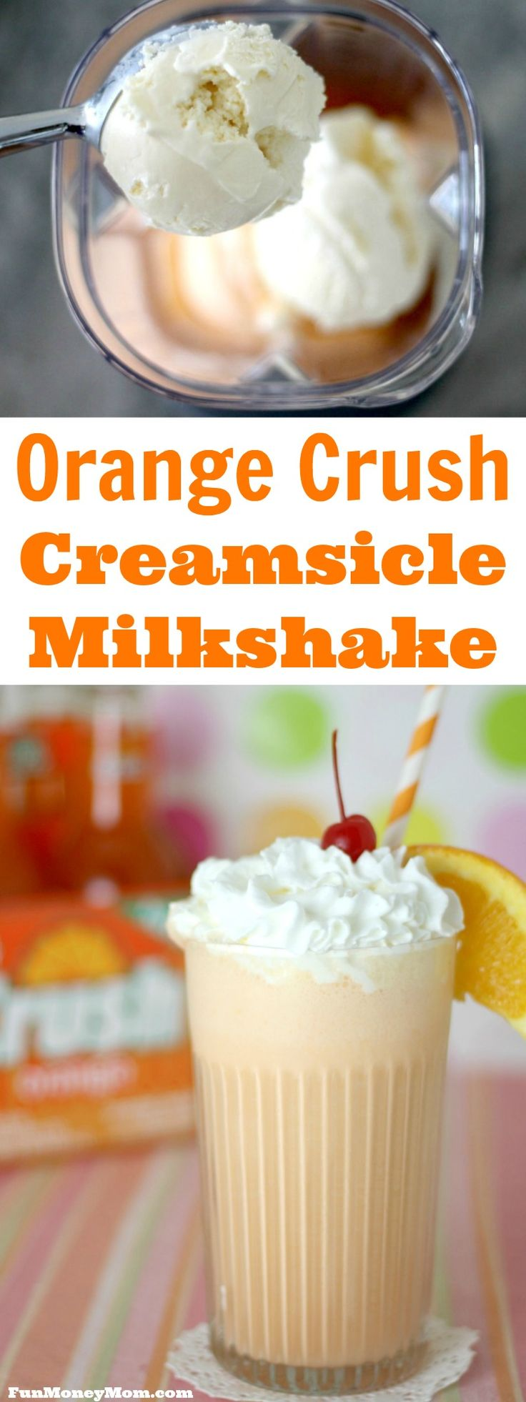 Want a fun ice cream dessert that will take you back to your childhood? This delicious Orange Crush milkshake will have you reminiscing about the good 'ol days!