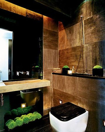H I S WaterCloset: Modern Chic Bathroom by Kelly Hoppen