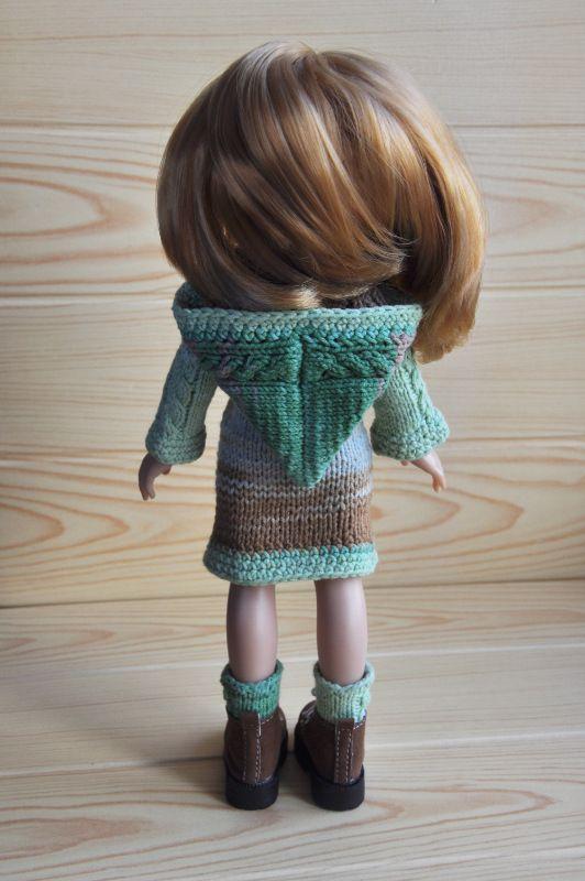 Кардиган с капюшоном+носки для куклы Паола Рейна+сумочка в подарок=) / Одежда для кукол / Шопик. Продать купить куклу / Бэйбики. Куклы фото. Одежда для кукол