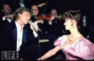 """Andy and Victoria - Andy sang """"Knights in White Satin"""" to Victoria that night.  It was the Command Performance for President Reagan in 1981."""