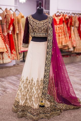Traditional Deep Red Bridal Lehenga