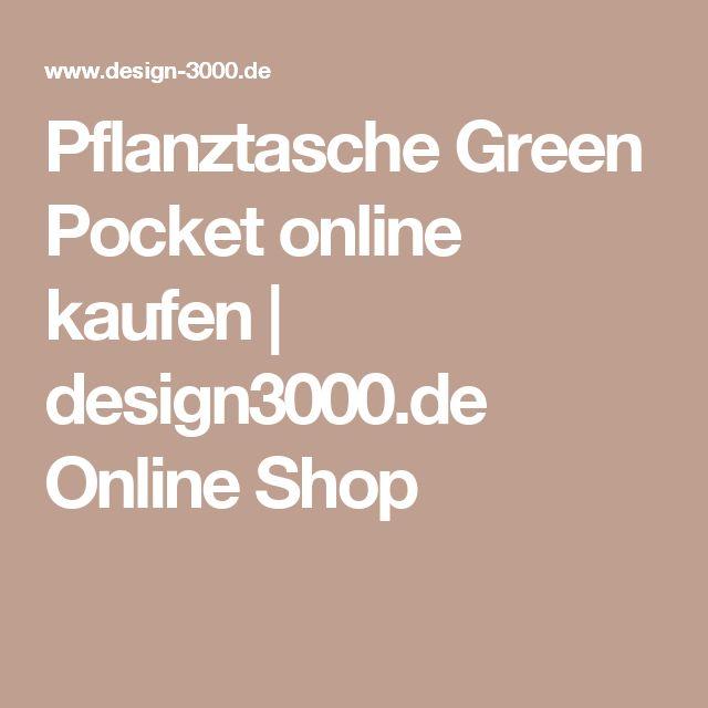 Pflanztasche Green Pocket online kaufen   design3000.de Online Shop