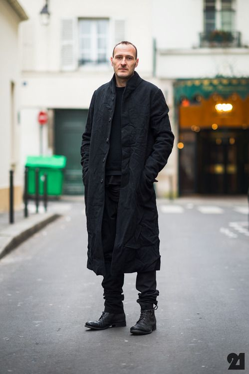 Loving these long coats ~ Old Man Fancy.