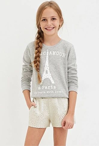 Girls Metallic Jacquard Shorts (Kids) | Forever 21 girls #forever21kids