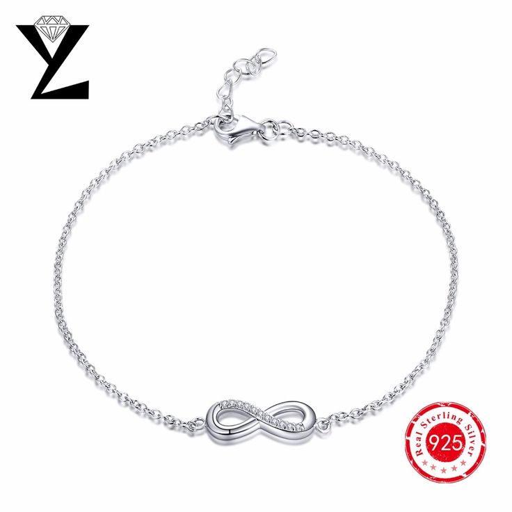 YL Brand Hand Chain 925 Sterling Silver for Woman Lobster Jewelry Chain Trend Style for Fashion Party Silver 1 Piece Per Package