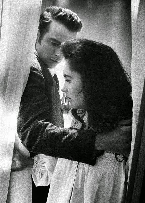 *-f* Montgomery Clift and Elizabeth Taylor  Raintree County 1957  Directed by Edward Dmytryk  Photo by Bob Willoughby