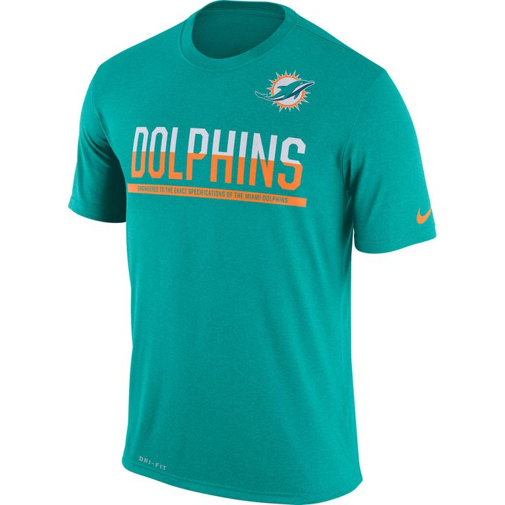Men's Nike Aqua Miami Dolphins Team Practice Legend Performance T-Shirt