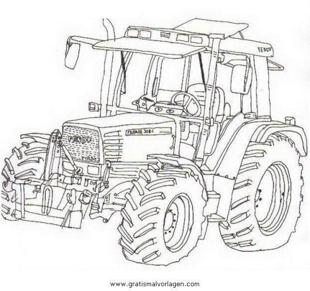 Ausmalbilder-traktor-fendt | Coloriage tracteur, Coloriage ...