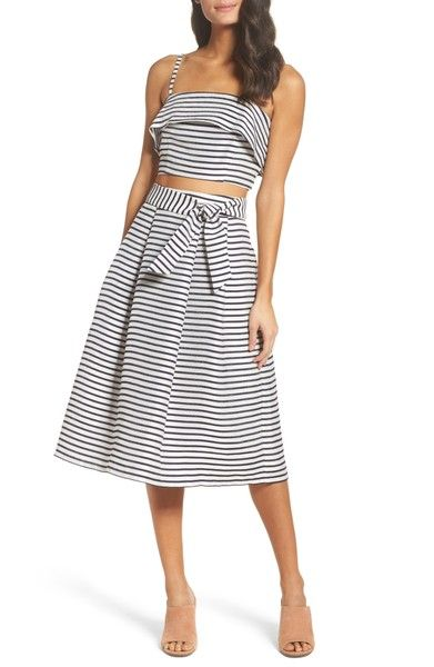 Main Image - BB Dakota Grace Stripe Two-Piece Dress