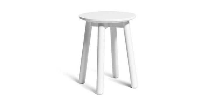 MONOQI | 43cm P1 Hocker - Weiß