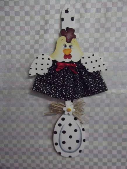 colher decorada galinha | Artesanatos Ingrid Carvalho | 16E4C2 - Elo7
