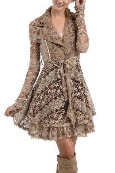 Women's Shabby Chic Fall Coat
