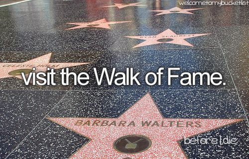 Visit The Walk Of Fame