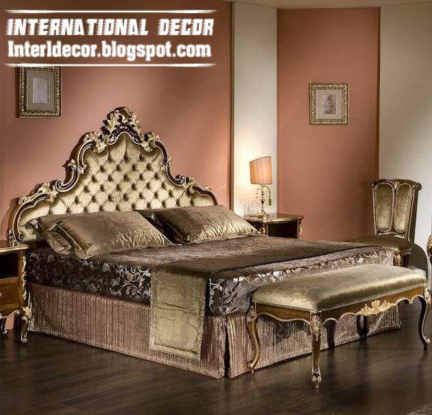 Luxury Bedrooms | Luxury Classic Bedroom Furniture Design   Golden Italian  Bed