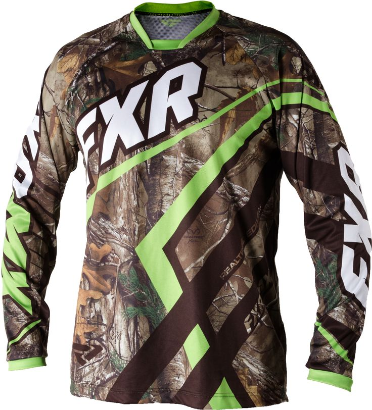 FXR Racing - 2015 MX Apparel - Realtree™Factory Ride Edition Jersey - Realtree™Xtra/Lime