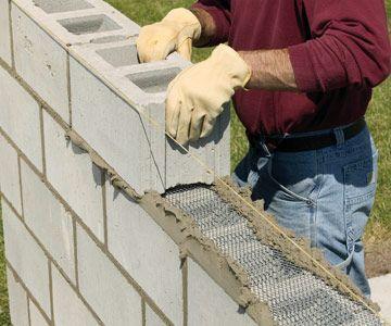 Amazing DIY Cinder Block Wall