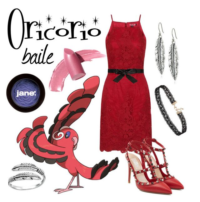 """Oricorio: Baile Style"" by teenageprincessgirl ❤ liked on Polyvore featuring Elizabeth Arden, Chi Chi, Alice + Olivia, Lucky Brand, Valentino, Miss Selfridge, jane, Primrose, Pokemon and baile"