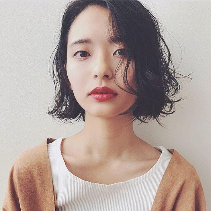 ❄️冬のボブ❄️ 首元スッキリ、 マフラー巻いても タートル着ても かわいく見える長さ☺️? hair&make→ @youkosetojima