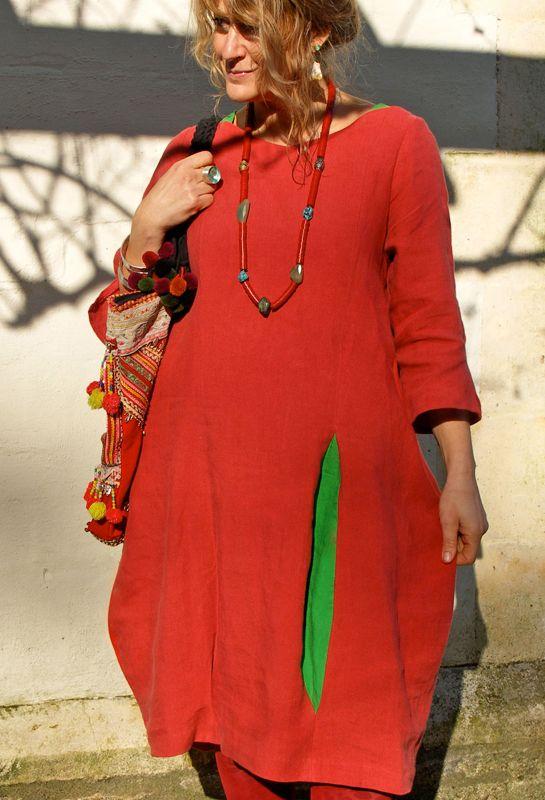 Bubble платье с различными цветными вставками в ирландском белья.
