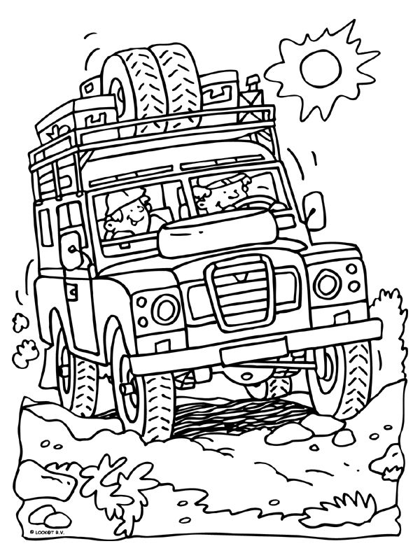 Outback exploring coloring page
